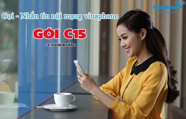 Chỉ 2.500đ/ngày, đăng ký gói C15 Vinaphone có 15' gọi, 15 SMS