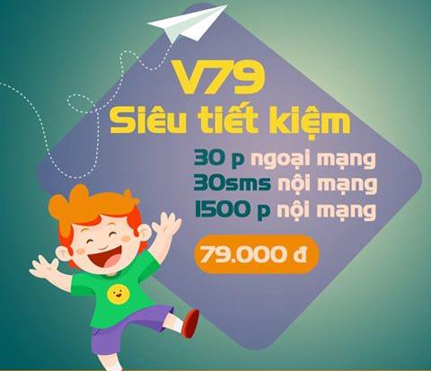 Tặng 1530 phút gọi và 30 tin nhắn với gói cước V79 Viettel