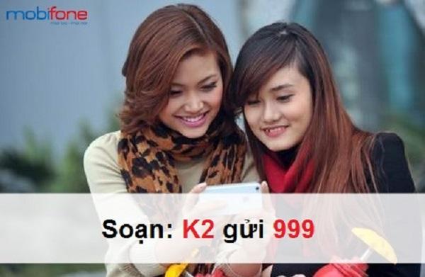 Đăng ký gói cước K2 Mobifone 25 phút gọi chỉ 2k/ngày