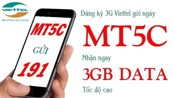 Nhận 3GB data chỉ 5.000đ khi đăng ký gói MT5C Viettel