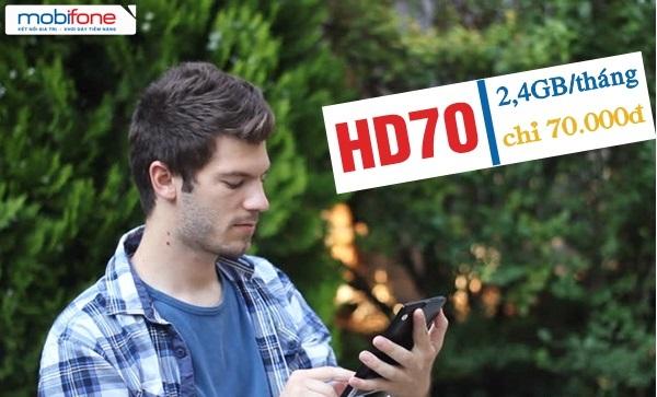 Ưu đãi 2.4GB data khi tham gia gói cước HD70 Mobifone