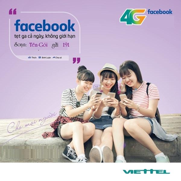 Hướng dẫn cách đăng kí gói 4G facebook viettel thả ga lướt face