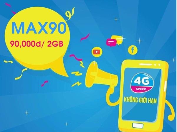 Hướng dẫn đăng ký gói cước MAX90 Vinaphone chỉ 90.000đ