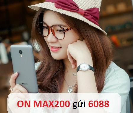 Những ưu đãi nhận được khi đăng kí gói MAX200 VinaPhone