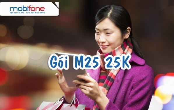 Hướng dẫn cách đăng ký gói cước 3G M25 Mobifone