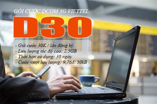 Làm sao để đăng kí gói D30 viettel nhận ngay ưu đãi lớn?