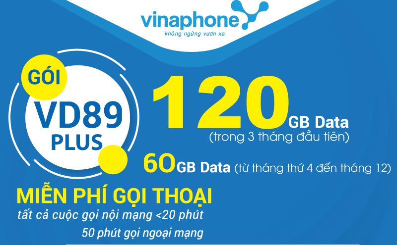 Tặng ưu đãi 4GB data khi đăng ký gói cước VD89P Vinaphone