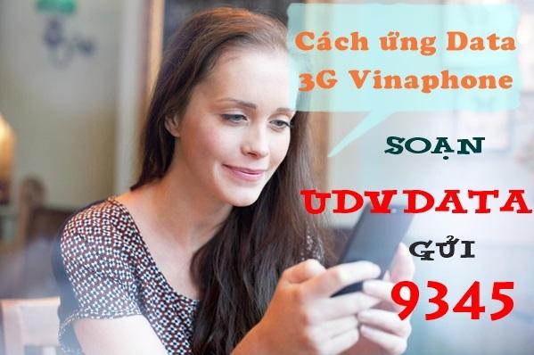 Làm sao để ứng dung lượng data 3G Vinaphone?
