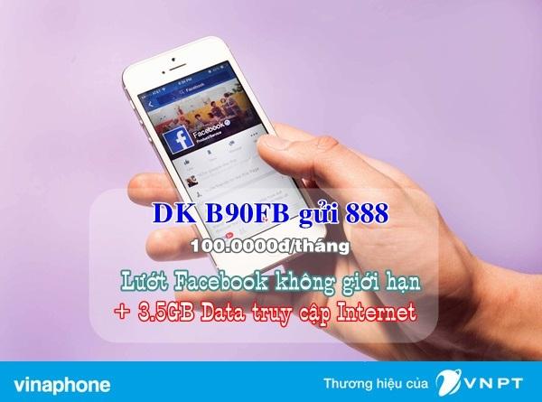 Đăng kí nhanh gói B90FB Vinaphone để thoải mái truy cập facebook