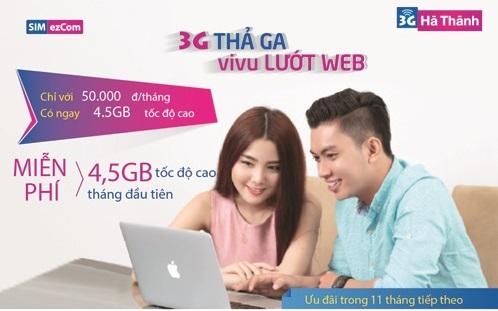 Lướt web thả ga khi tham gia hòa mạng sim 3G Hà Thành Vinaphone