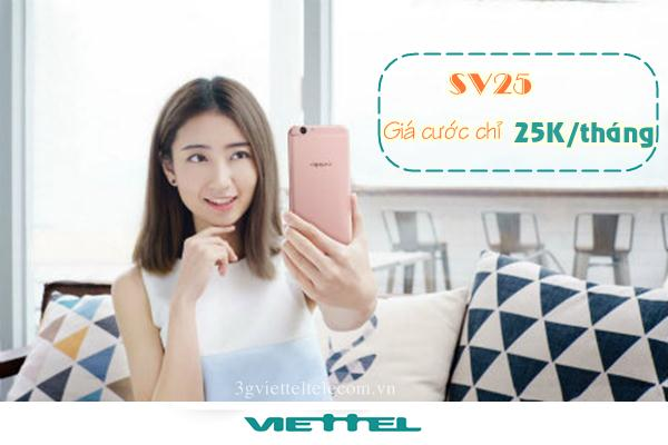Cách đăng kí gói SV25 cho sinh viên  của nhà mạng viettel