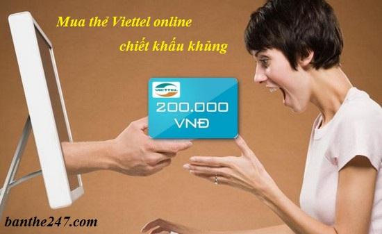 Hướng dẫn cách mua thẻ viettel nhanh nhất tại banthe247.com