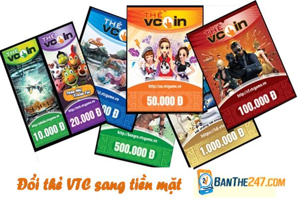 Đổi thẻ VTC sang tiền mặt nhanh đến bất ngờ