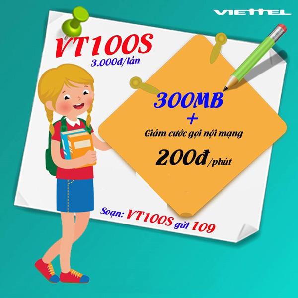 Gói cước VT100S Viettel có ưu đãi gì hấp dẫn?