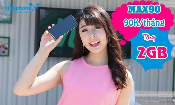 Chi tiết cách đăng ký gói cước MAX90 Vinaphone