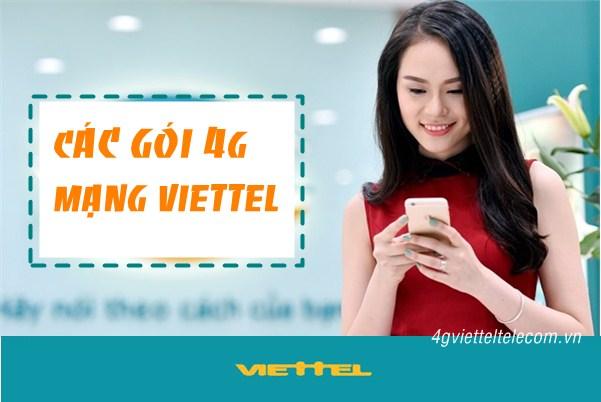 Tổng hợp bảng giá dịch vụ các gói cước 4G Viettel hấp dẫn nhất năm 2018.
