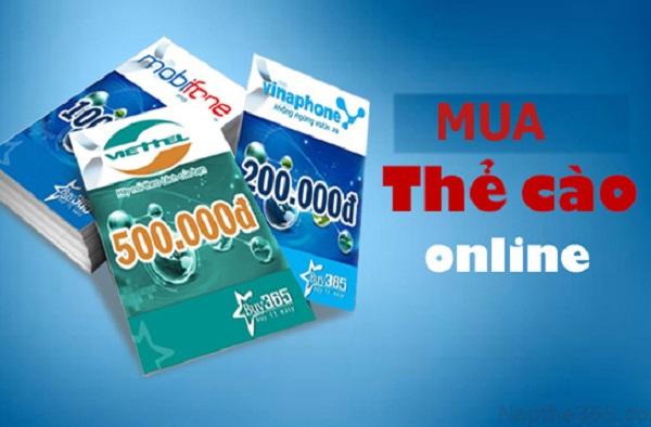 Cách mua card điện thoại online cho thuê bao Viettel, Vina, Mobi