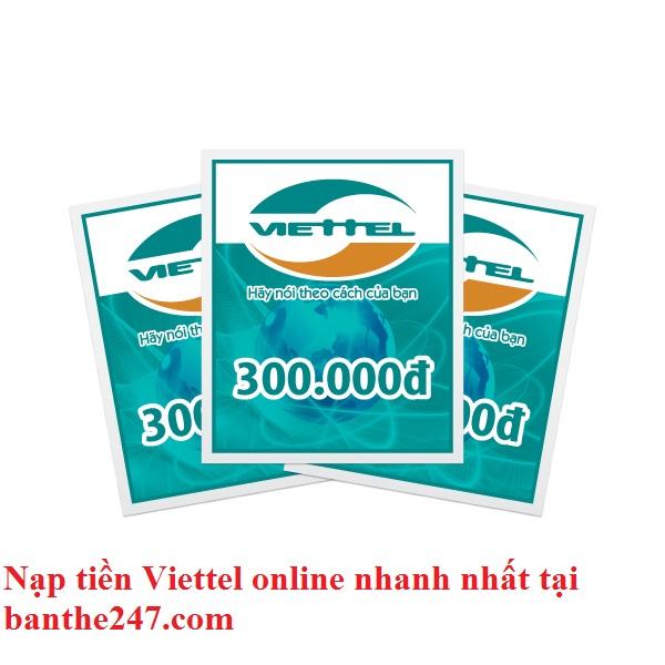 Hướng dẫn nạp tiền Viettel online với 3 bước siêu nhanh
