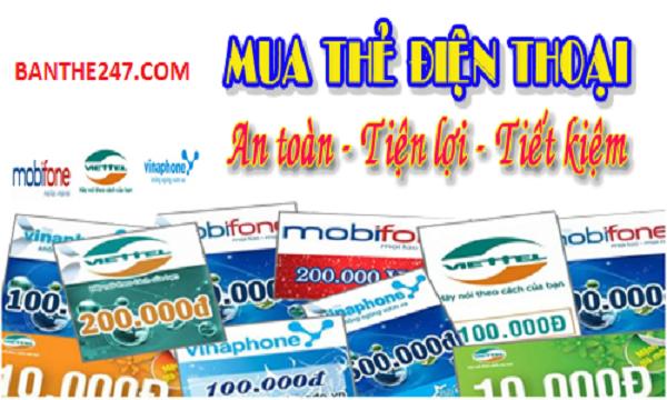 Cách mua card điện thoại trực tuyến cho thuê bao Mobifone