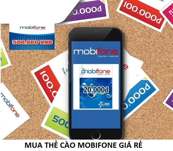 Chi tiết cách mua thẻ cào mobifone giá rẻ