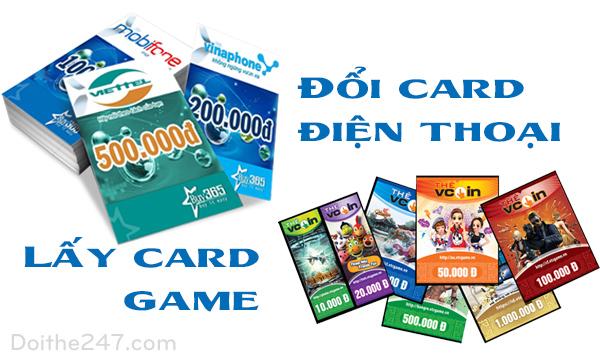 2 bước đổi card điện thoại lấy card game nhanh nhất