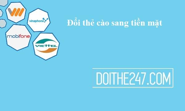 Chi tiết cách đổi thẻ cào sang tiền mặt tại doithe247.com