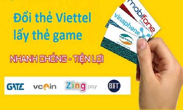 Nạp tiền vào tài khoản game bằng thẻ cào Viettel đơn giản