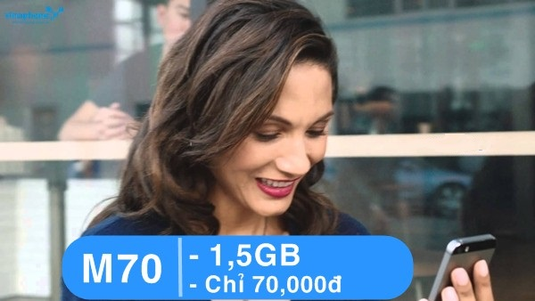 Hướng dẫn đăng kí gói M70 vinaphone nhận ngay ưu đãi hấp dẫn nhất