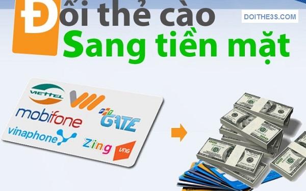 Thực hiện nhanh đổi thẻ điện thoại lấy tiền mặt phí ưu đãi
