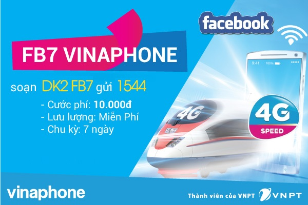 Bí quyết đăng kí gói FB7 Vinaphone thoải mái lướt facebook cả tuần