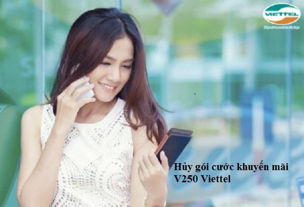 Bật mí cách hủy gói cước khuyến mãi V250 Viettel
