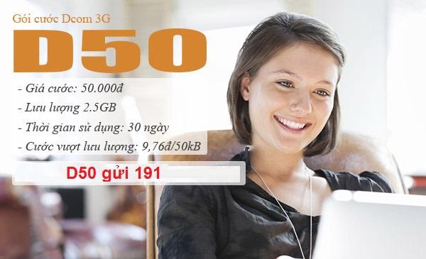 Hướng dẫn đăng ký nhanh gói cước D50 của Viettel