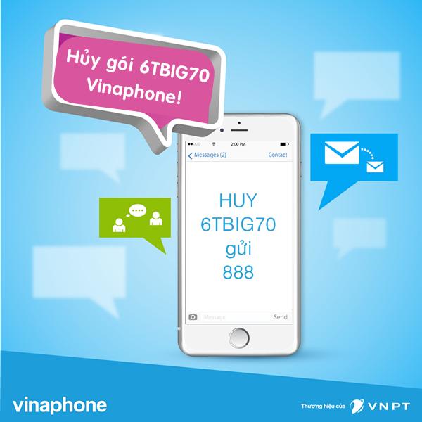 Làm sao để hủy gói 6TBIG70 Vinaphone nhanh chóng nhất?