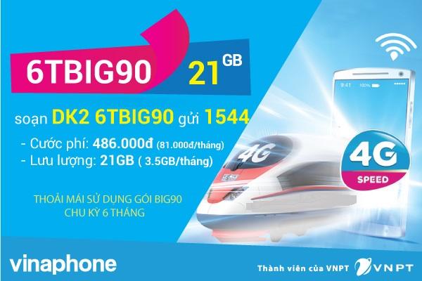 Hướng dẫn nhanh cách đăng kí gói 6TBIG90 vinaphone