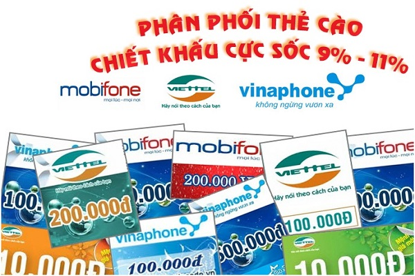 Đại lý bán thẻ cào giá sỉ uy tín nhất Việt Nam?