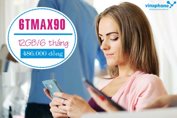 Hướng dẫn nhanh cách đăng kí gói 6TMAX90 Vinaphone