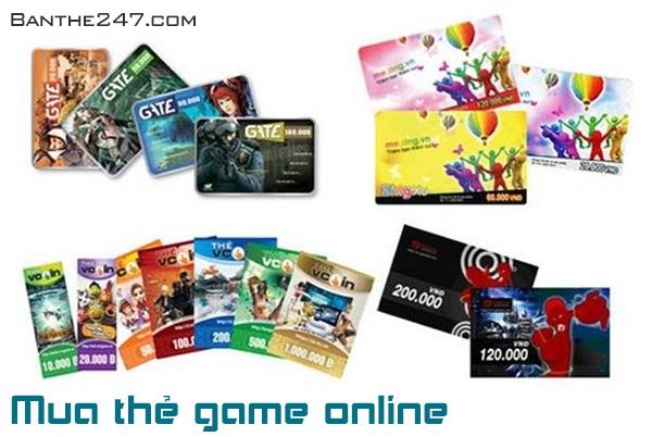 Mua card game qua 2 bước siêu nhanh trên Banthe247.com