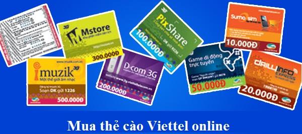 Mua thẻ cào Viettel online ưu đãi siêu hấp dẫn tại banthe247.com