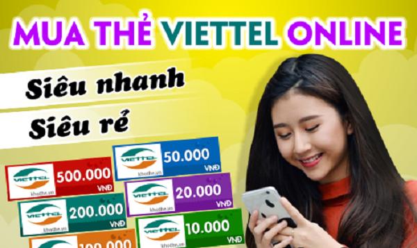 Mua thẻ Viettel 500k uy tín, chiết khấu cao