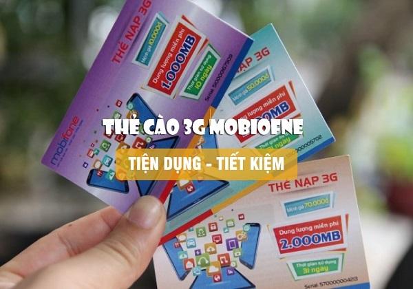 Ưu đãi 1GB – 1,4GB data khi mua thẻ cào data Mobifone