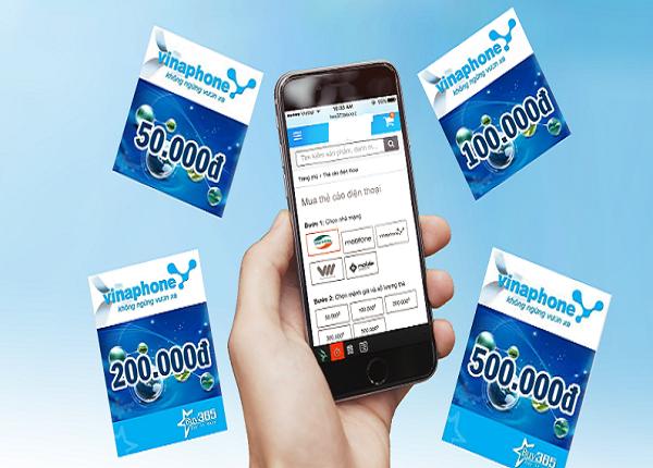 Mua thẻ điện thoại Vinaphone chiết khấu cao, giá rẻ