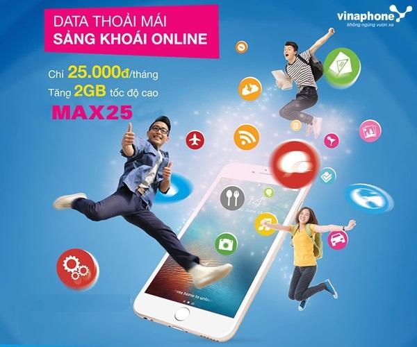 Hướng dẫn đăng kí gói MAX25 Vinaphone  nhận ngay ưu đãi lớn