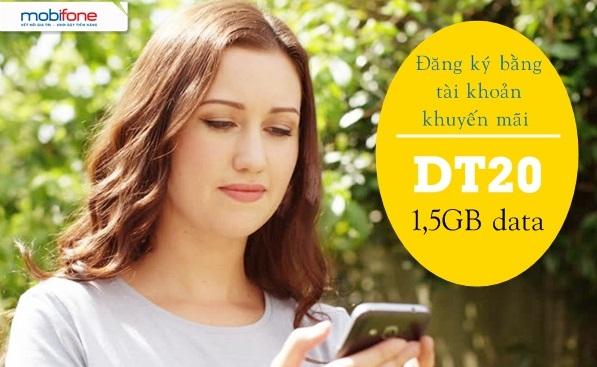 Chi tiết cách đăng ký gói cước DT20 Mobifone bằng tài khoản KM