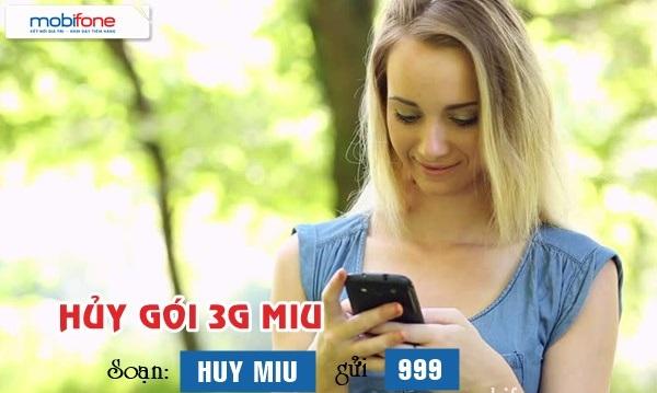 Thông tin chi tiết cách hủy gói Miu Mobifone