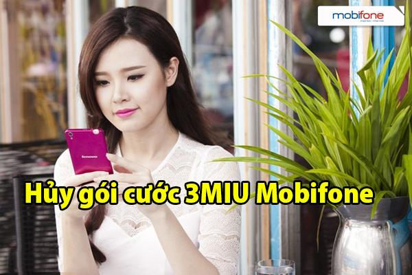 Cách hủy gói cước 3MIU Mobifone cực nhanh chóng