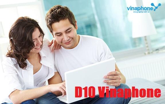 Tặng 3GB data khi đăng ký gói cước D10 Vinaphone