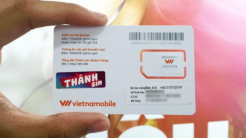 Chi tiết các ưu đãi khi hòa mạng gói cước Thánh sim Vietnamobile