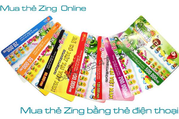 Cách mua thẻ Zing trực tuyến bằng thẻ điện thoại