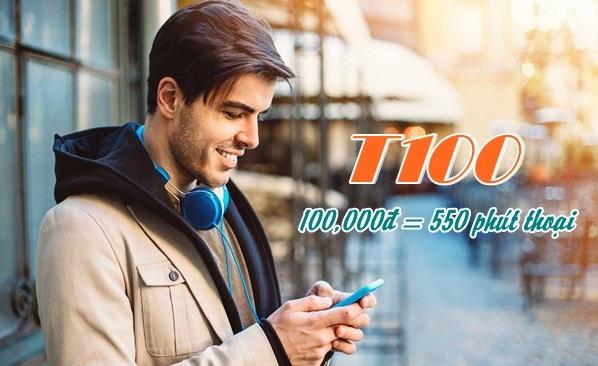 Gọi thả ga khi tham gia đăng ký gói T100 Viettel