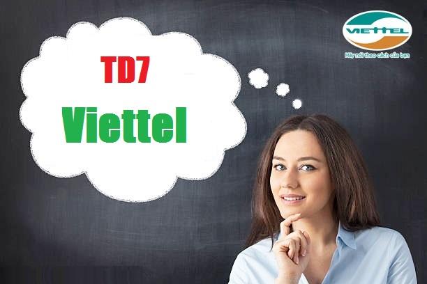 Tặng 5GB data khi tham gia đăng ký gói cước TD7 Viettel